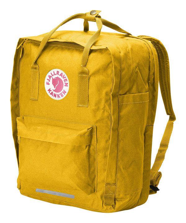 Fjällräven Kanken Warm Yellow 17'' Laptop Bag by Fjällräven Kanken #zulily #zulilyfinds