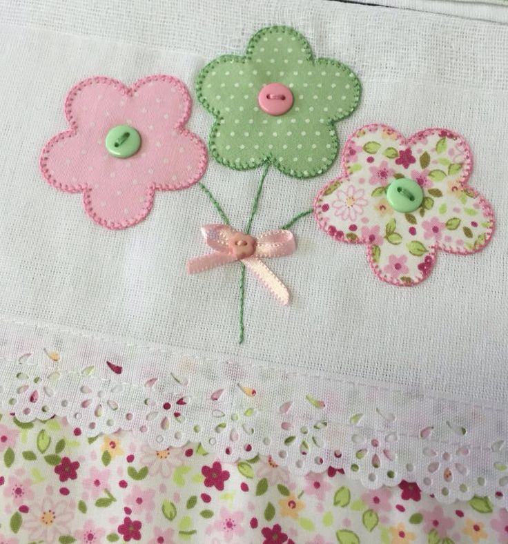 Handmade flowers patch