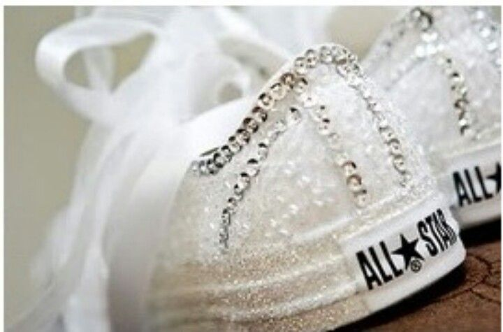 Wedding chucks... I keep telling y'all I'm wearing Chuck's to my wedding.  This is it! I'm making them myself...