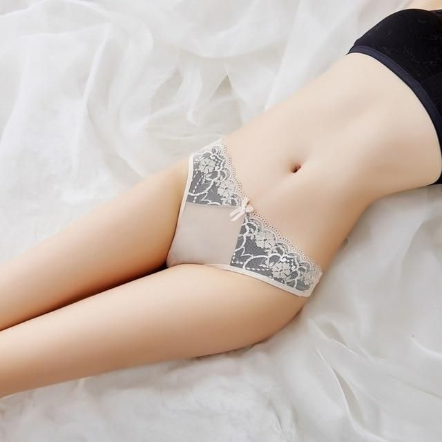 cea9f5a690 Luckymily Hot Selling 7 Color Sexy Flower Shape Cotton+Lace G-String Women  Underwear