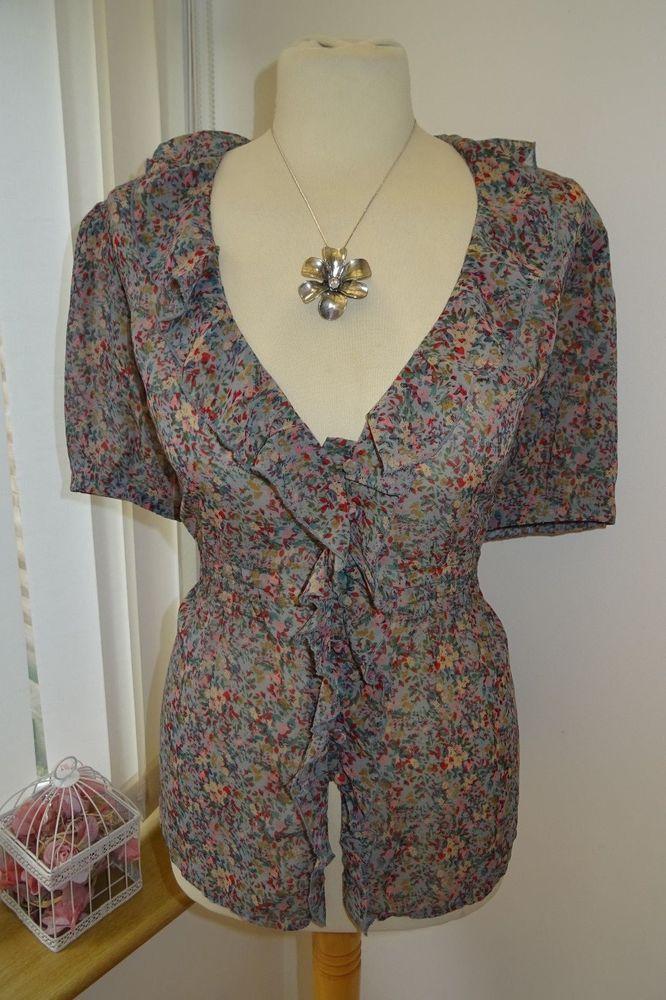 New! Pretty Ladies Phase Eight Blue Grey Floral Frill Blouse – UK Size 16 | Vêtements, accessoires, Femmes: vêtements, Hauts, chemises | eBay!
