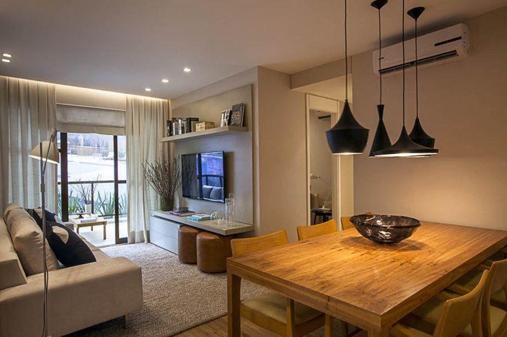 Distribución de espacios. Cocina. Comedor. Living