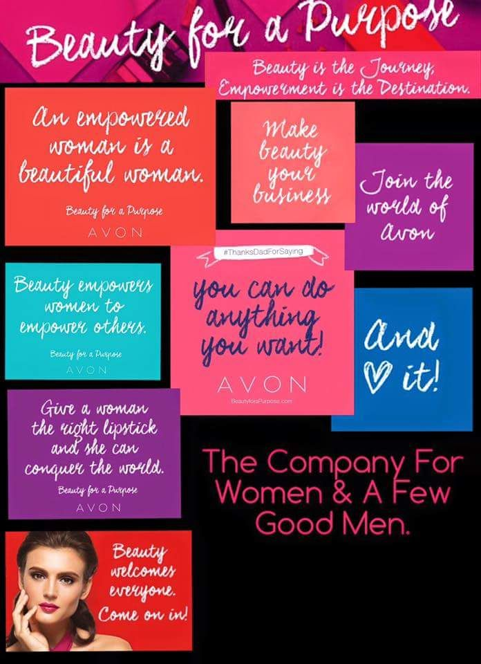 When you sell Avon..you sell more then just makeup. You sell for a purpose! What is yours? Sign up online @: https://cstowe.avonrepresentative.com/