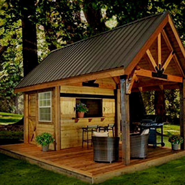 Outdoor Storage And Sitting Area Decks Outdoor Kitchens