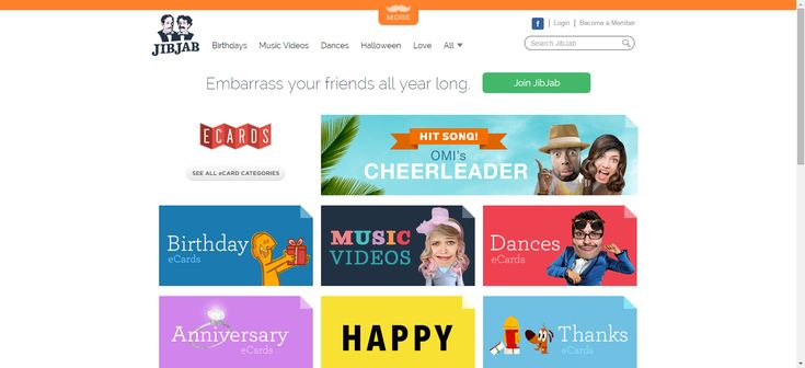 The Top Ten Websites for Free eCards: JibJab