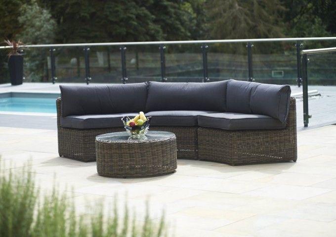 Curved Modular Rattan Garden Furniture
