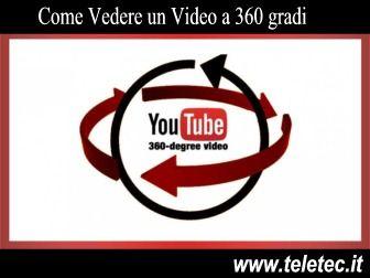 Video a 360 gradi con PC e Discovery - Mentre riproduci il video con il mouse esplori ogni direzione