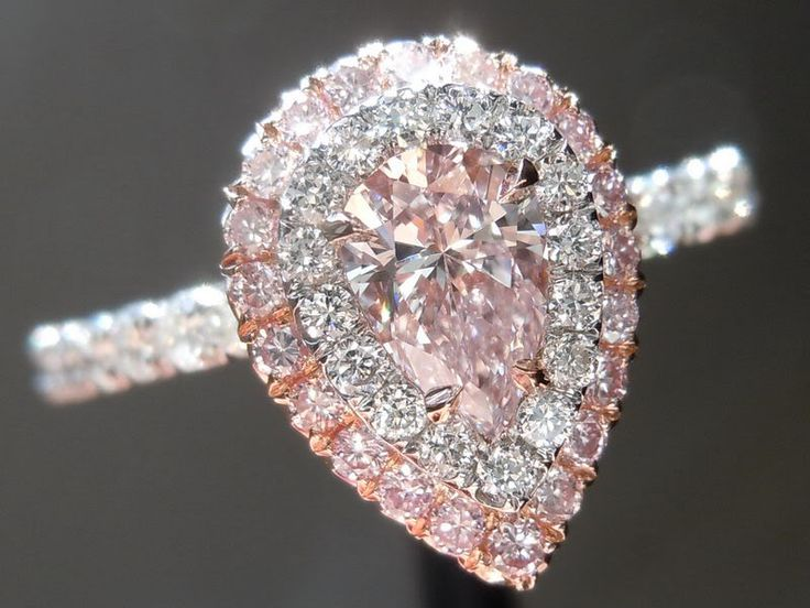 pink: Double Halo, Pink Pears, Jewelry, Dreams Rings, Pear Diamond Rings, Pretty, Pink Diamonds, Pears Diamonds Rings, Engagement Rings