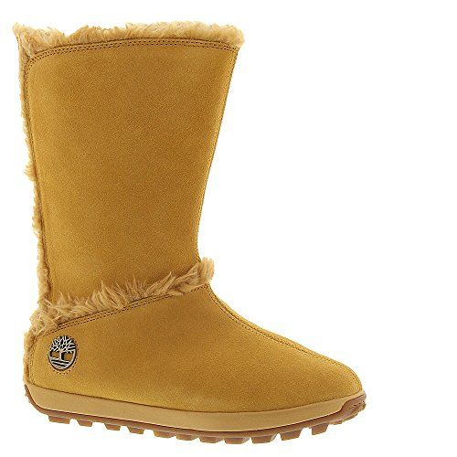 "Timberland Women's Mukluk 10"" Boot 8.5 B(M) US Wheat-Suede -- Find out more about the great product at the image link."