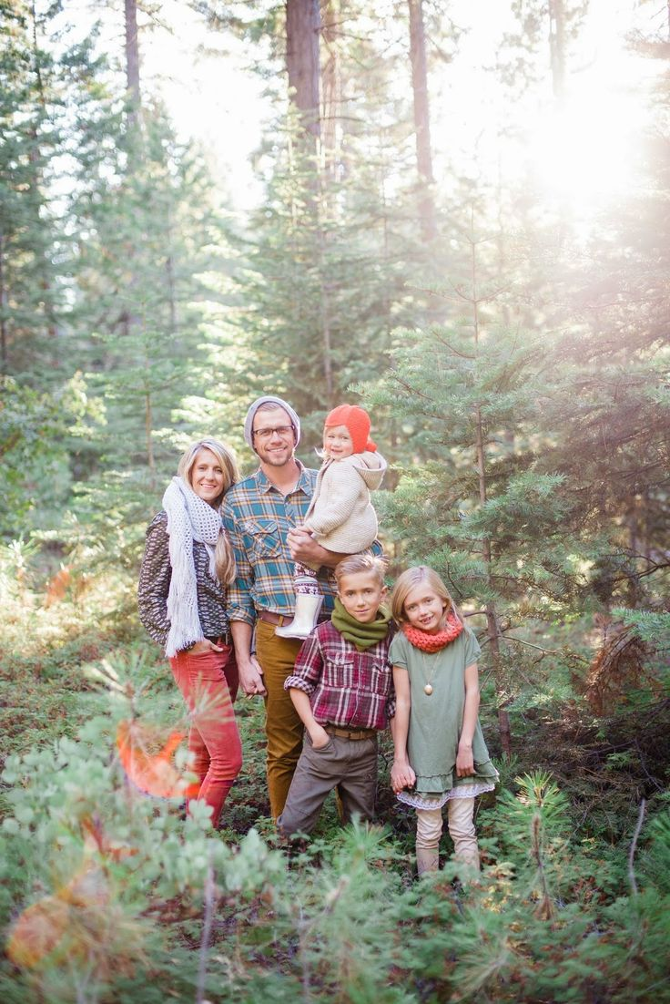 Woodland Family Photo by By Bethany Photography and other great holiday photo…