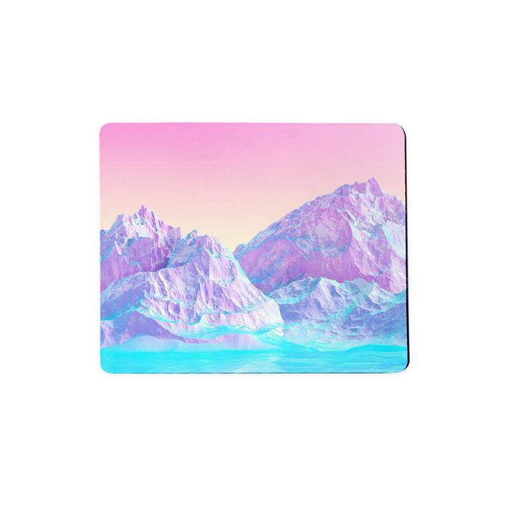 """Pastel Mountains Mousepad  A mousepad for when your aesthetic piques interest. A mousepad for when the swatches are just perfectly picturesque.    Our mousepads are 7"""" x 9"""" in size and the material is a blend of cloth and rubber."""