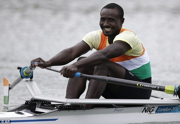 Niger rower Hamadou Djibo Issaka received a rapturous reception from the Eton Dorney crowd despite finishing dead last in the men's singles sculls.
