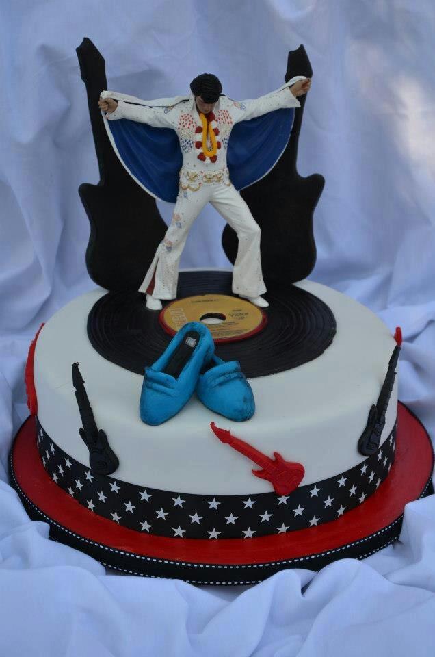 20 Best Elvis Cakes Images On Pinterest Elvis Cakes Birthday