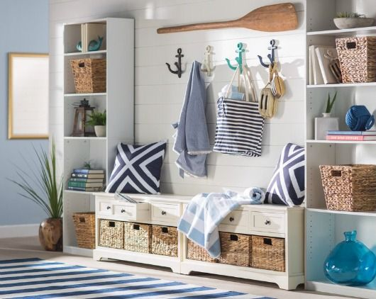 Shop these Coastal Entryway Designs! Featured on Completely Coastal: http://www.completely-coastal.com/2017/06/coastal-entryway-designs-from-wayfair.html 5 coastal entryway ideas from Wayfair.