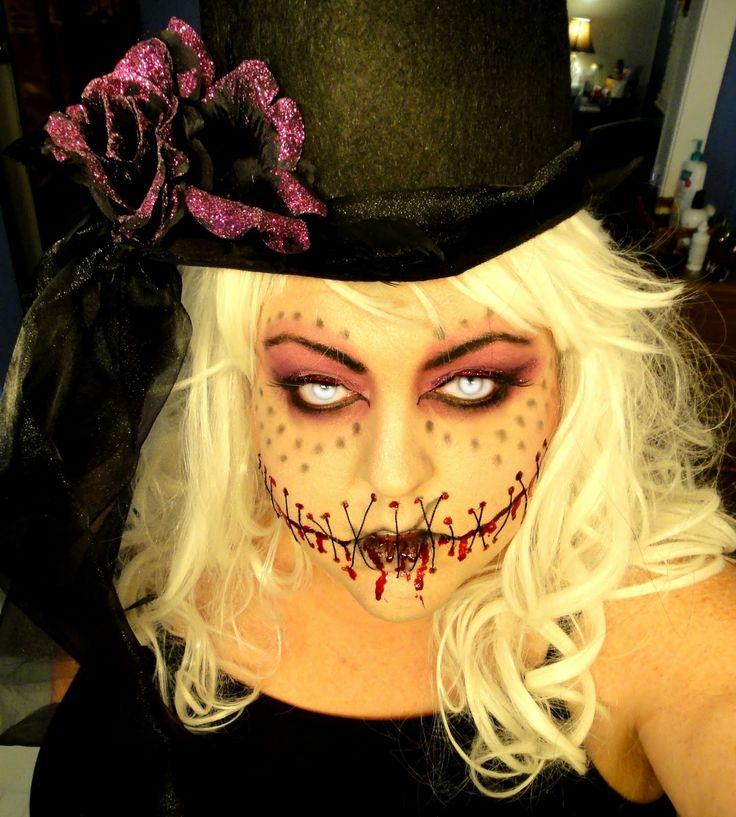 perfect voodoo doll makeup | halloween | Pinterest | Doll ...