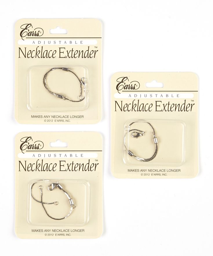 Silver Adjustable Necklace Extender - Set of Three