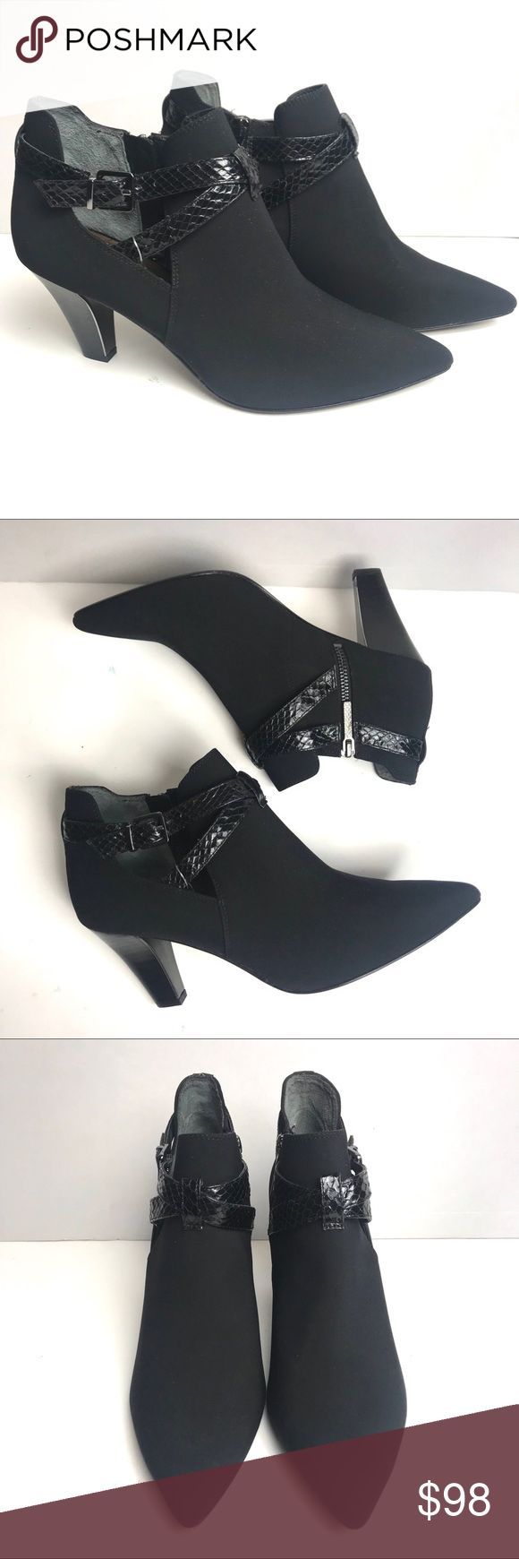 Donald J Pliner Tamy Women Pointed Toe Ankle Boot New without box! Donald J Pliner Tamy Women Pointed Toe Synthetic Black Ankle Boots Size 10  Some marking on soles! Please review all pictures  S10 Donald J. Pliner Shoes Ankle Boots & Booties