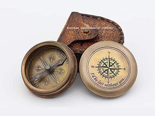 Amazon.com: Ohne dich wäre ich verloren Kompass mit Etui / Geschenk für die Liebe / Valentin …   – I NEED THIS IN MY LIFE