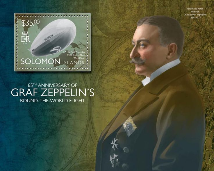 Post stamp Solomon Islands SLM 14505 b	85th anniversary of Graf Zeppelin's round the world flight (LZ 127 Graf Zeppelin, 1929 Round the World Tour)