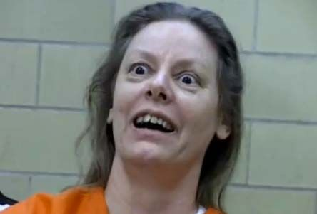 "Aileen Wuornos, serial killer.  She's really scary.  They even made a movie about her called ""Monster"", starring ordinarily-attractive Charlize Theron, who was made up to look every bit as grotesque as this!"