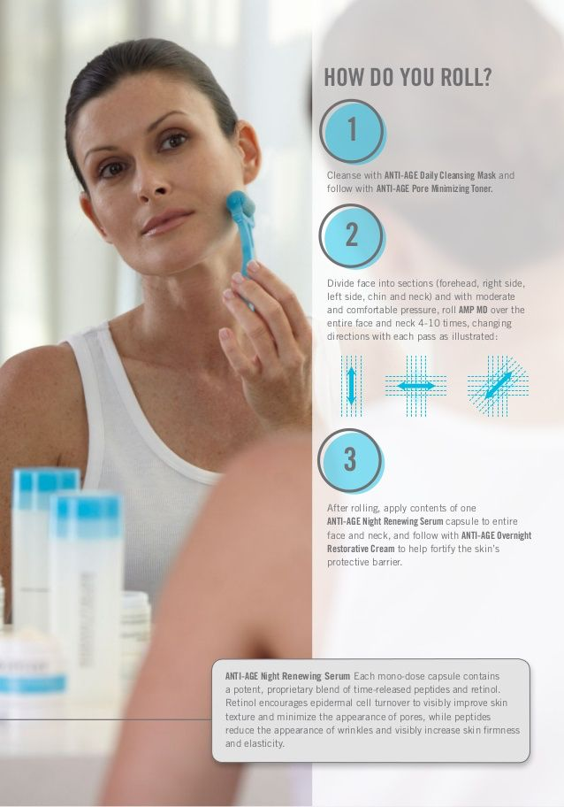 The Micro-Roller, AMP MD, will enhance your results when used in conjunction with REDEFINE AND REVERSE. By creating micro channels in the skin, the body is forced to create collagen. Adding Retinol after rolling is a key part of collagen synthesis. Over time you will notice less fine lines, minimized pores, and also can be used for acne scarring and pitted acne marks.