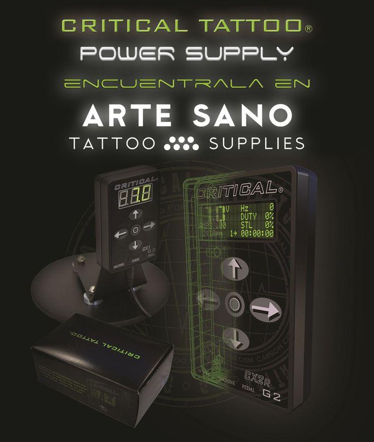 Ya disponemos en Arte Sano Tattoo Supplies de las fuentes de alimentación CRITICAL. Una fuente de alimentación potente e ideal para viajar.