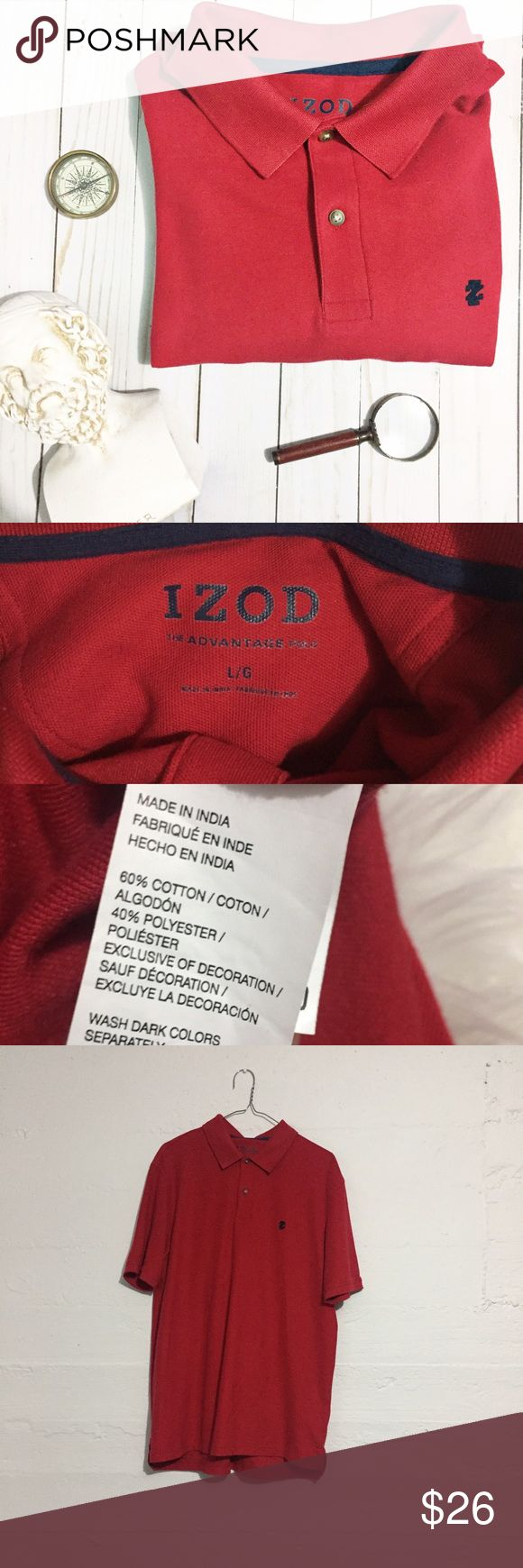 IZOD Polo Shirt Men's red IZOD Polo. Bundle with the other in this closet and save! Open to offers.  No trades. Izod Shirts Polos