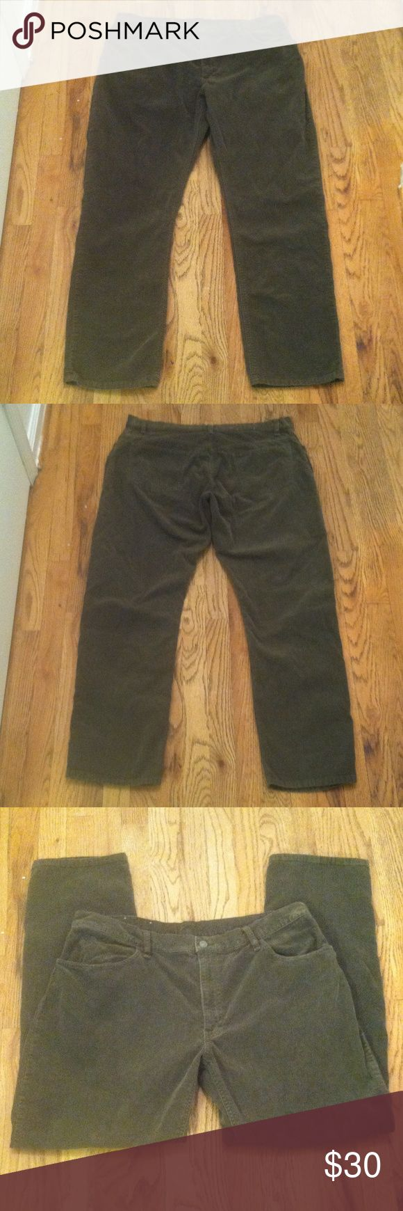 Polo Sport Ralph Lauren Pants 38X32 Polo Sport Ralph Lauren corduroy pants. Size 38X32. Depending on the lighting, sometimes they look green & other times gray. Zip up & one button front closure. Five belt loops. 100% cotton. Made in Malaysia.  NO TRADES, HOLDS, OR MODELING. Polo Sport Ralph Lauren Pants Corduroy
