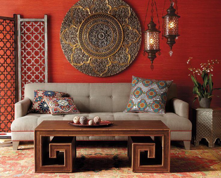 Sala de estar com decoração asiática | Eu Decoro