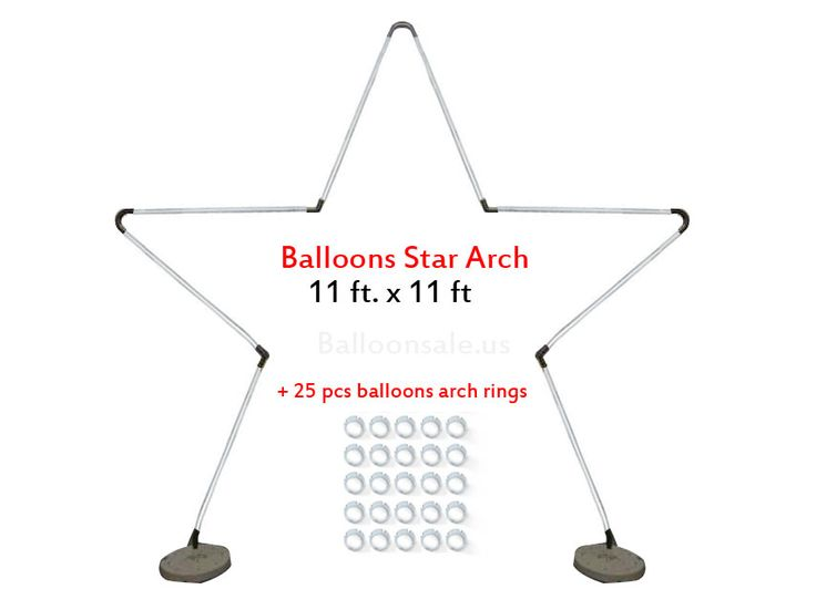 Large Metal Latex Balloons Star Arch Frame Kit