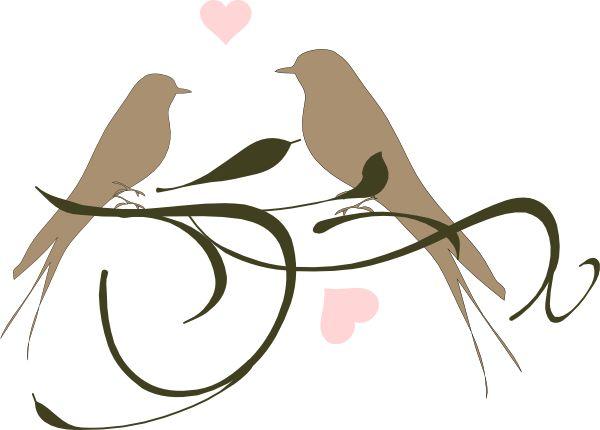 Wedding Love Birds Clip Art Clipart