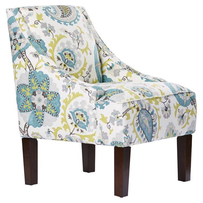 Bungalow Rose Heady Swoop Ladbroke Upholstered Arm Chair & Reviews   Wayfair