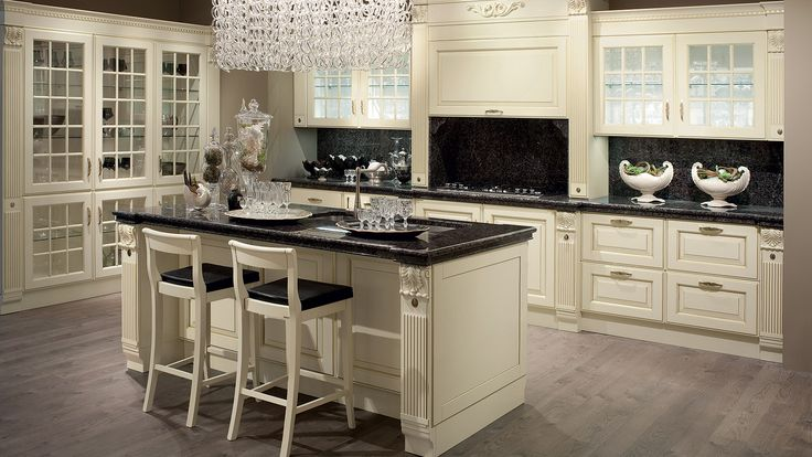 Baltimora Kitchen - design by Vuesse and M. Pareschi. This Kitchen expresses the love of tradition and elegant modernity.