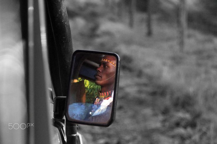 Masi Driving through the Meru - Picture of a Masai Driving through the Meru National Park  Taken February 2017