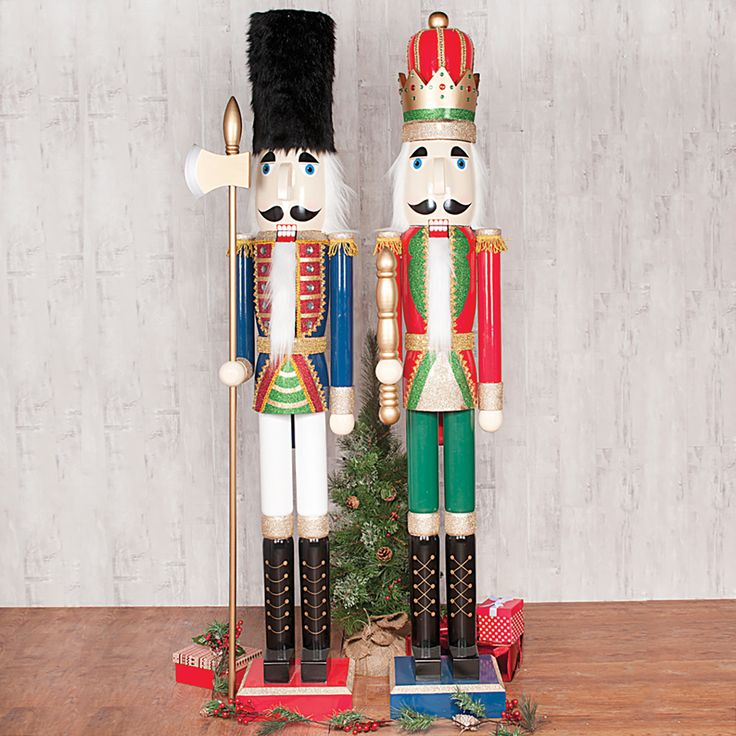 Two Large Nutcracker Soldiers...6ft