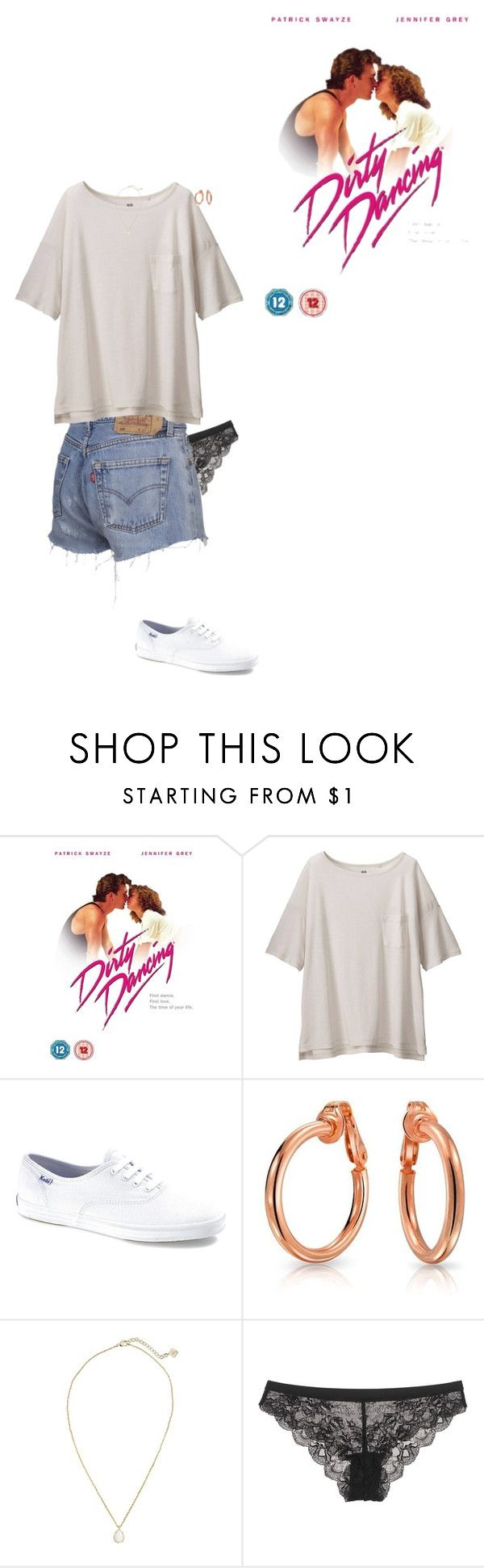 """""""I have an unhealthy obsession with Dirty Dancing"""" by carolfaisca ❤ liked on Polyvore featuring Uniqlo, Keds, Bling Jewelry, Kendra Scott, Calvin Klein Underwear, women's clothing, women, female, woman and misses"""