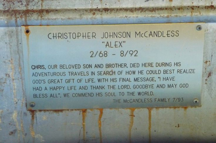 Plaque in Bus 142 | Into the Wild & Wild Truth | Pinterest ...