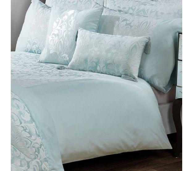 Gosford Duck Egg Damask Jacquard Luxury Duvet Cover Julian Charles Luxury Duvet Covers Luxury Bedding Master Bedroom Affordable Bedding Sets
