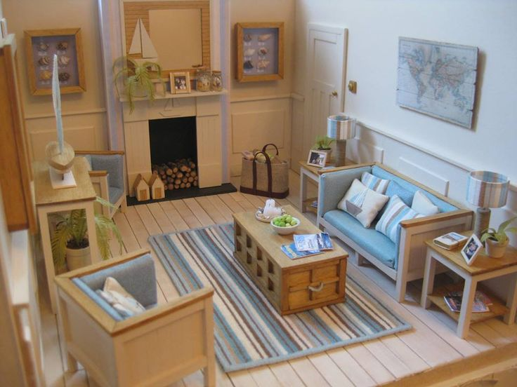 MiNiaTuRe BEaCH HouSe LiViNG RooM ____Oh wow, this is absolutely stunning, I love it!