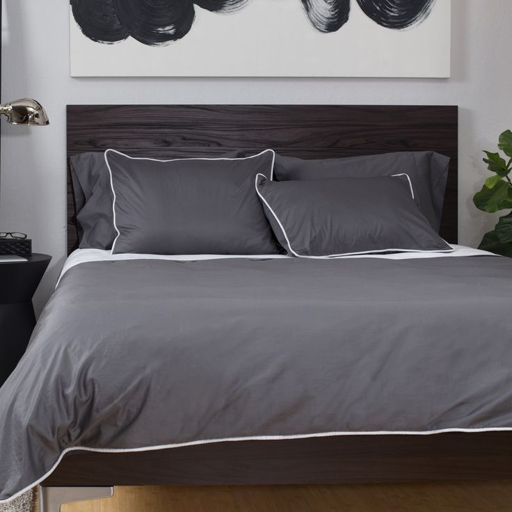 bedroom inspiration and bedding decor the hayes nova charcoal grey duvet cover crane and