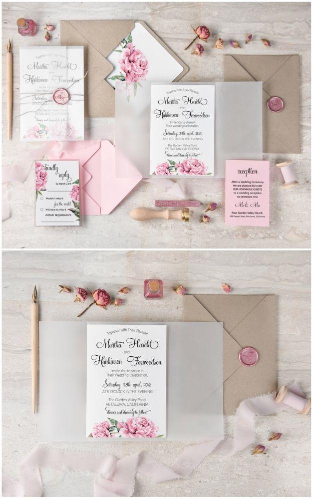 Floral Calligraphy Wedding Invitations Wedding Floral Flowers Weddingidea Fun Wedding Invitations Wedding Invitations Romantic Handmade Wedding Invitations