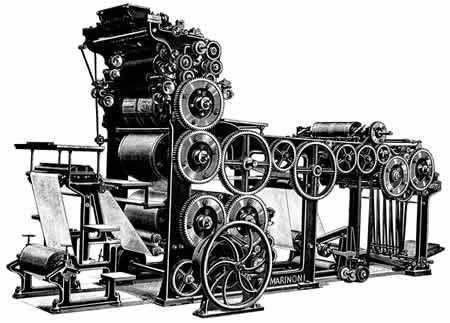 Invento: Prensa rotativa Año: 1846 Inventor: Richard March Hoe Ámbito de aplicación: Telecomunicaciones. Realizado por Mikel Landín. 14/02/2014 a las 18:23 http://es.wikipedia.org/wiki/Rotativa