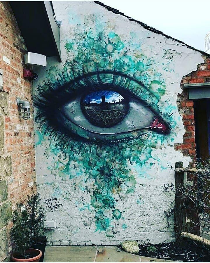 An Eye Wall Painting By Mydogsighs Follow Us Oculimagazine