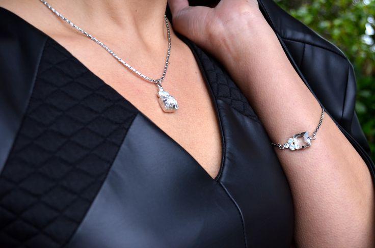 Jus d'orange Paris Dress £75, Jus d'orange Paris Jacket £100, Martine Wester Necklace £19, Bracelet £16