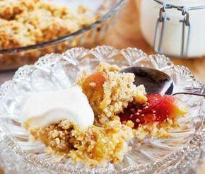 Kanske går att göra i portionsformar till cafeet?  Om du gillar smulpaj eller äppelpaj ska du testa det här receptet på världens godaste äppelsmulpaj. Pajen har den perfekta kombinationen av sött, surt och salt. Servera med vaniljsås, vispad grädde eller glass och njut!