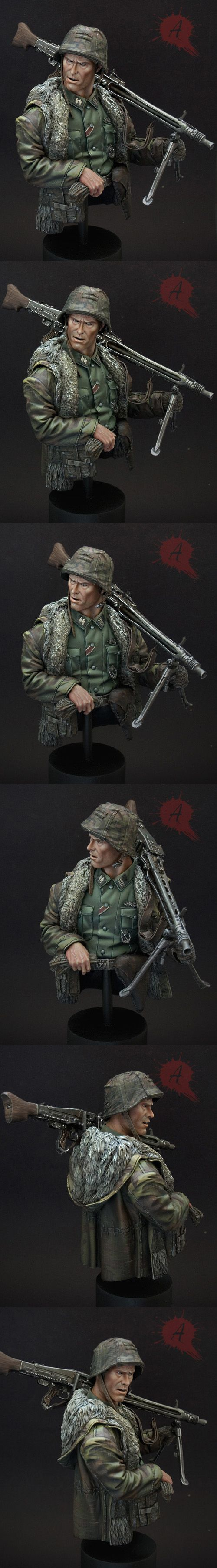 CoolMiniOrNot - Waffen SS MG42 Gunner by Arsies