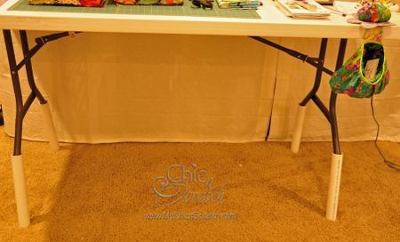 Raise Your Table With Pvc Pipe To A Comfortable Height For