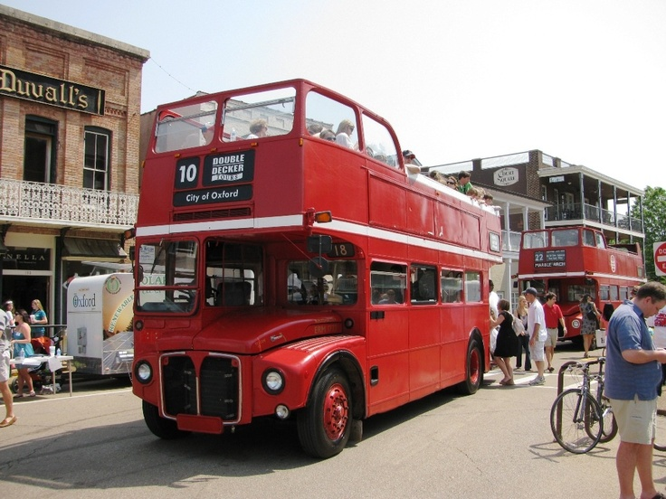 How many Americans do you know who have been side-swiped by a double-decker bus? It happened to my wife!