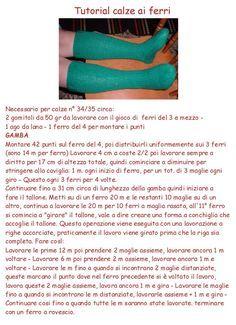 spiegazione in italiano calzini ai ferri - Google Search