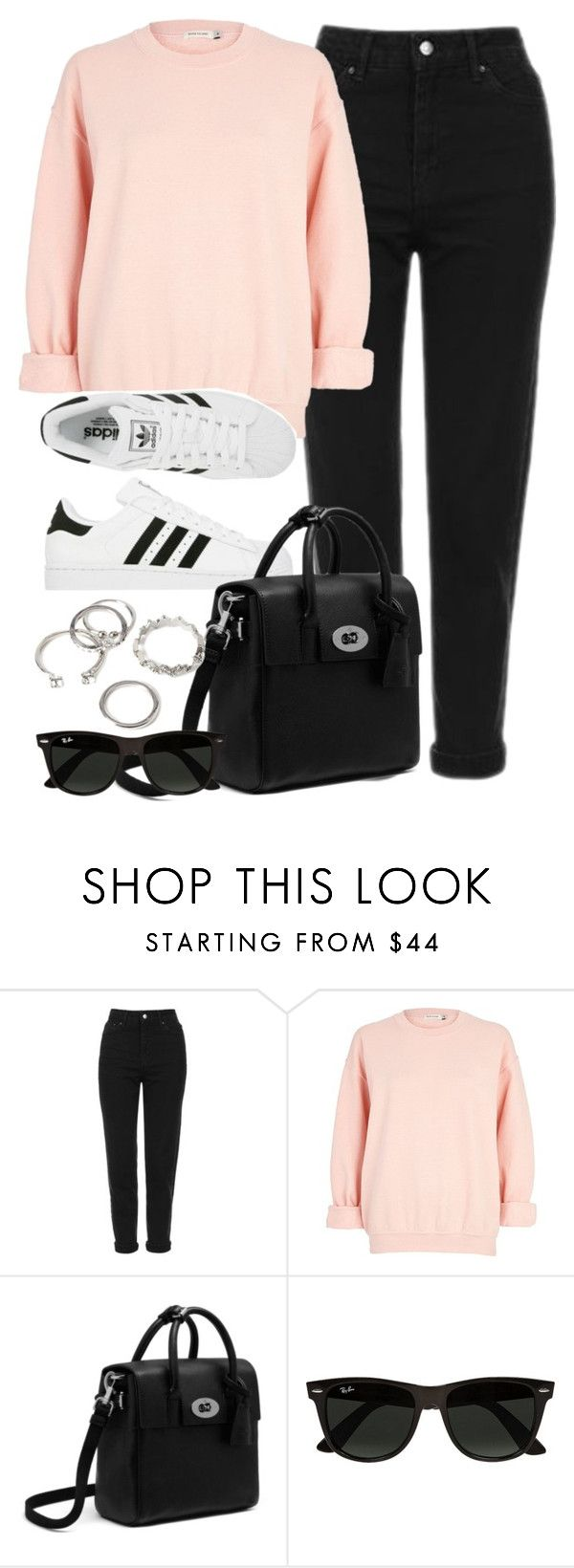 """""""Style #11507"""" by vany-alvarado ❤ liked on Polyvore featuring Topshop, River Island, adidas, Ray-Ban and Forever 21"""
